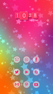 Simple cute color themes - screenshot
