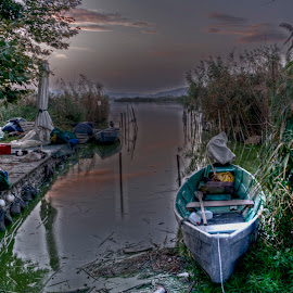 Fishing boat by Stratos Lales - Transportation Boats ( booat, ioannina, fishing, island )