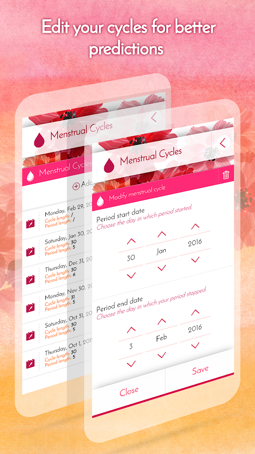 Period Calendar, Cycle Tracker Screenshot 2
