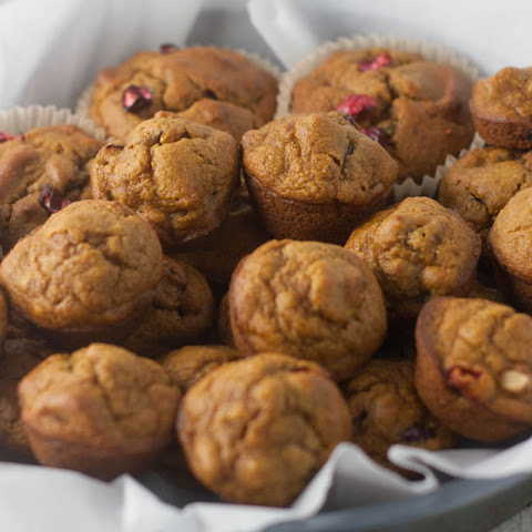 Blender Pumpkin Cranberry Walnut Muffins