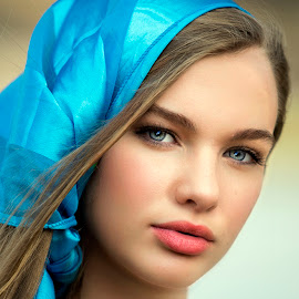 Gypsy Blue by Sylvester Fourroux - People Portraits of Women
