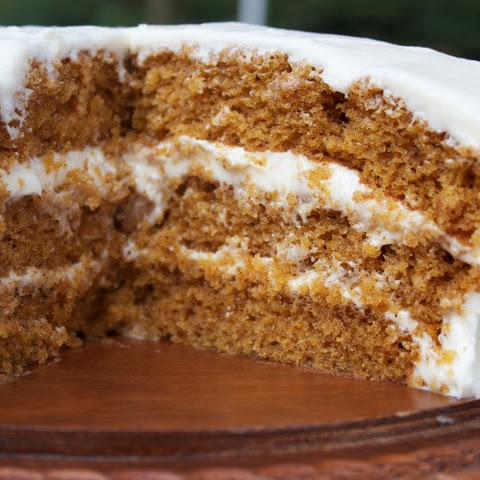 Cissy's Spiced Pumpkin Cake with Creamed Cheese Frosting