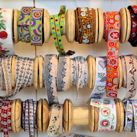 Ribbons by Heather Aplin - Artistic Objects Clothing & Accessories ( colourful, ribbons, reels, haberdashery, tape )