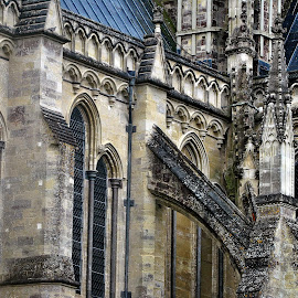 Salisbury   cathedral by Gordon Simpson - Buildings & Architecture Places of Worship