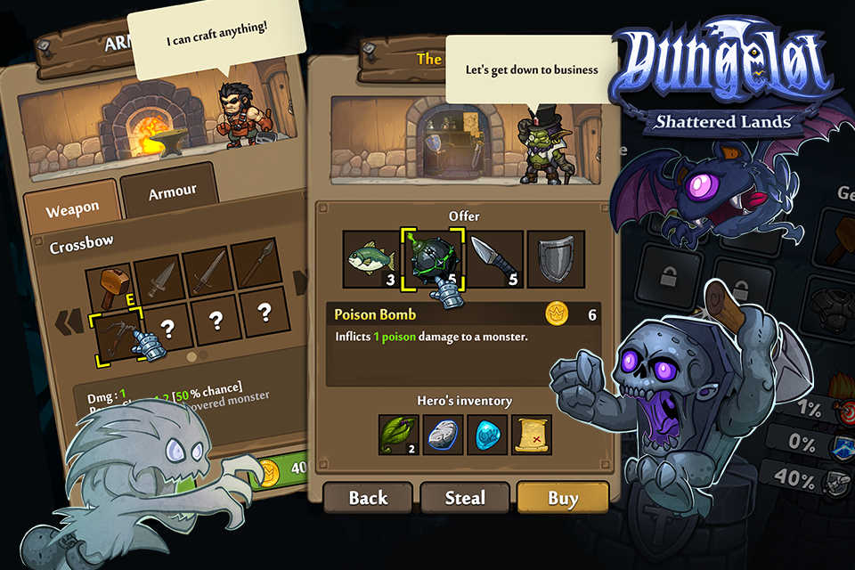 Dungelot Shattered Lands Screenshot 1
