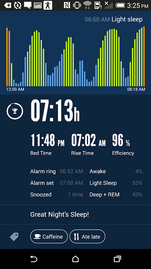 Sleep Time+ Smart Alarm Clock Screenshot 1