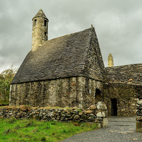 St Kevin's Church by Robert Coffey - Buildings & Architecture Public & Historical ( spire, church, fence, stone, ireland,  )