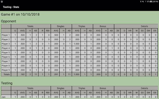 Dartball Statistician screenshot 6