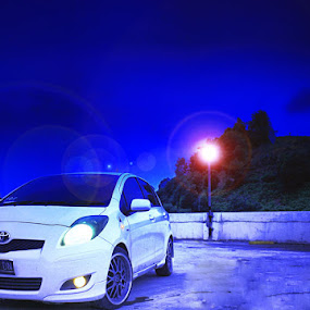 The Night Yaris by Kristian Hadinata - Transportation Automobiles ( car, yaris, night, photoshop )