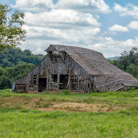 Old Barn by Michael Buffington - Buildings & Architecture Decaying & Abandoned ( old, wooden, wood, barn, vintage, rural, abandoned, decay )