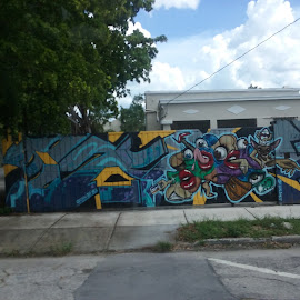 Arte callejero by Santiago Barcelo - City,  Street & Park  Vistas ( calles )