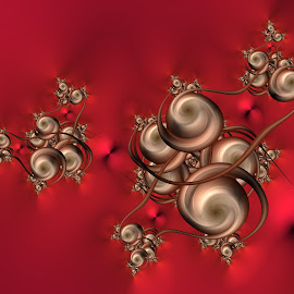 Swirly 2 by Cassy 67 - Illustration Abstract & Patterns ( abstract art, swirl, wallpaper, digital art, harmony, fractal, red background, digital, fractals, energy )