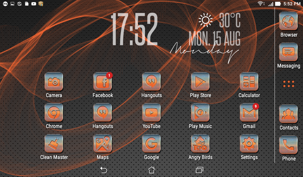 Metallic Orange Icon Pack Screenshot 4
