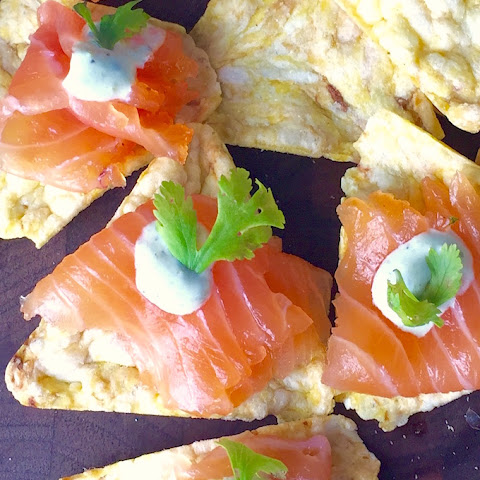 Tequila Cured Salmon with Charred Jalapeño Cream