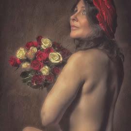 Lady by Carola Kayen-mouthaan - Nudes & Boudoir Artistic Nude ( nude, fine art, portrait )