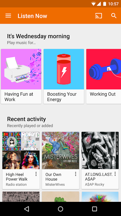 Google Play Music Screenshot 0