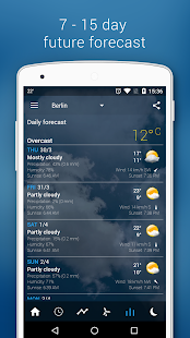 Transparent clock & weather Screenshot