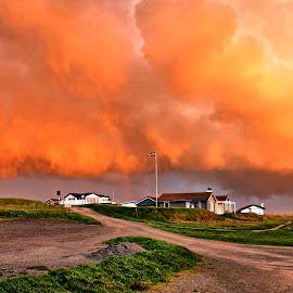 Stormy skyes by Roar Randeberg - Landscapes Cloud Formations ( clouds, buildings, cloudscape, landscape photography, landscape )