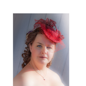 Suzy by John Walton - People Portraits of Women ( #heritagefocus, #red hat )