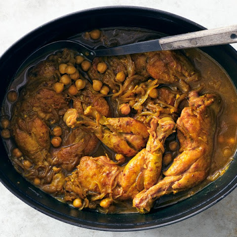 Indian-Spiced Chicken with Chickpeas and Spinach