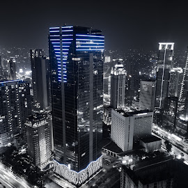 by Irfan Firdaus - City,  Street & Park  Night ( travel photography, cityscape, indonesia, building, low light )