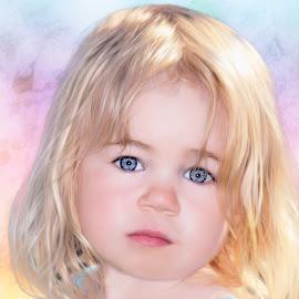 Angel by Stephen Crawford - Babies & Children Child Portraits ( angel, blonde, sunny, children, blue eyes, head, portrait, soft,  )