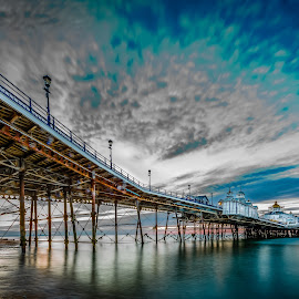 Dawn at the Pier by Anthony P Morris - Landscapes Waterscapes ( water, sky, dawn, eastbournepier, leading, anthony morris, sea, cloud, pier, eye, eastbourne )