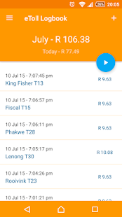 eToll Logbook - screenshot