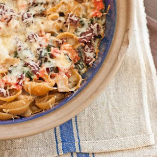 Goat Cheese and Swiss Chard Pasta Casserole