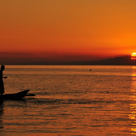 Sunset - Calatagan, Batangas, Philippines by Say Bernardo - Nature Up Close Water