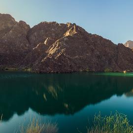 Hatta Dam by Zulfikar Khan - Landscapes Mountains & Hills ( water, hills, mountain, lake, landscape )