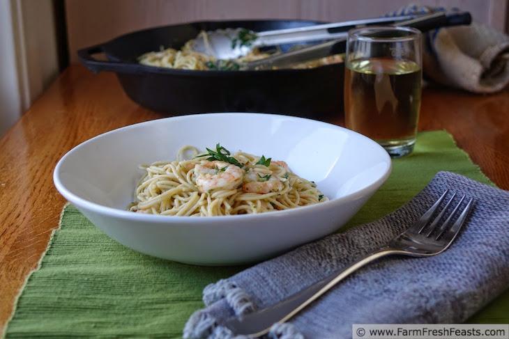 Shrimp and Garlic Scape Scampi Recipe   Yummly