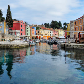 Veli Losinj by Dubravka Krickic - City,  Street & Park  Neighborhoods ( small town, reflection, veli losinj, croatia, sea, island, colours )