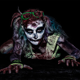 Crawling out of the dark by Vincent Yates - Public Holidays Halloween ( creepy, make up, zombie, crawling, multicolored,  )