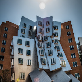 The Crooked Building II ! by Abhay Sharma - Buildings & Architecture Other Exteriors ( building, sky, mit, scenic, sun )