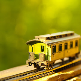 Antique train car by Marius Cristea - Artistic Objects Toys