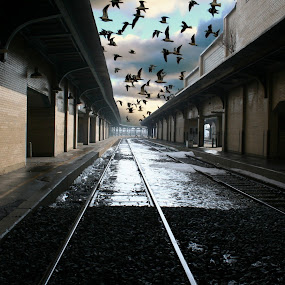 Toledo Train Station by Dennis Granzow - Artistic Objects Other Objects
