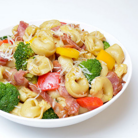 Warm Toretellini Salad With Broccoli And Bacon