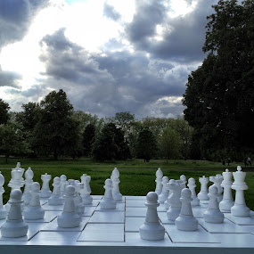 Hyde Park outdoor chess board by Ludwig Wagner - Instagram & Mobile iPhone
