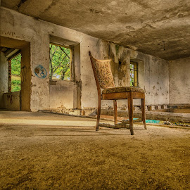 chair and empty room by Eseker RI - Artistic Objects Still Life