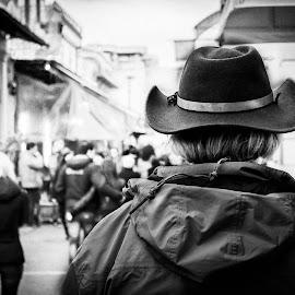 Athens Cowboy by Cow Cow - People Street & Candids ( black n white trip )