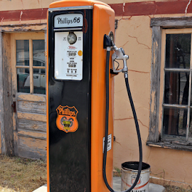 Antique Gasoline Pump by Tony Huffaker - Artistic Objects Antiques ( phillips 66, utah, gasoline, pump, antique )