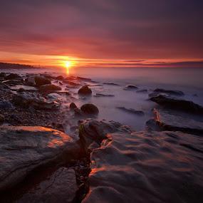Pett square by Mark Leader - Landscapes Beaches ( shore, dawn, long exposure, pebbles, sunrise, seascape, rocks, coast )