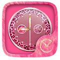 PinkCheetah GO Clock Theme APK for Bluestacks