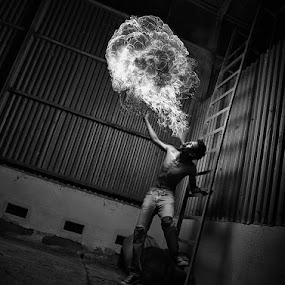 WUUUSSHHH !!! by Alamsyah Rauf - People Fine Art ( people.bw, fire )