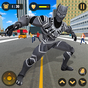 Panther Superhero Battleground: City Survival Game