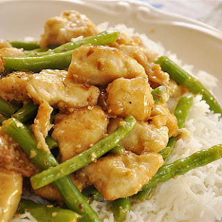 General Tso's Chicken & Green Beans