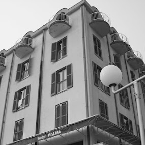 Hotel Palma by Aleksandar Šeter - Buildings & Architecture Office Buildings & Hotels ( black and white, pwcbuilding )