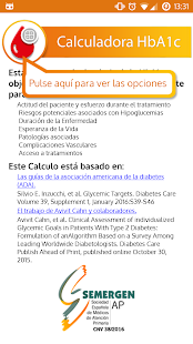 Calculadora HbA1c - screenshot