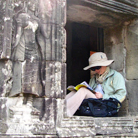 A Break Among the Ruins by Marsha Sices - Buildings & Architecture Public & Historical ( flagged )